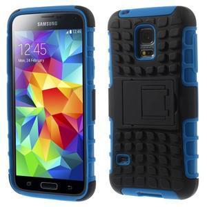 Outdoor odolný obal pre mobil Samsung Galaxy S5 mini - modrý - 1