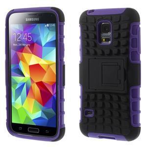 Outdoor odolný obal pre mobil Samsung Galaxy S5 mini - fialový - 1