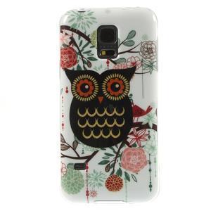 Owls gélový obal pre Samsung Galaxy S5 mini - paní sova - 1