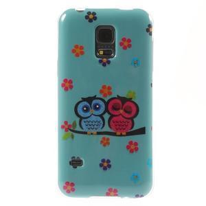 Owls gélový obal pre Samsung Galaxy S5 mini - soví pár - 1