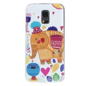 Ultratenký obal pre mobil Samsung Galaxy S5 mini - slon - 1