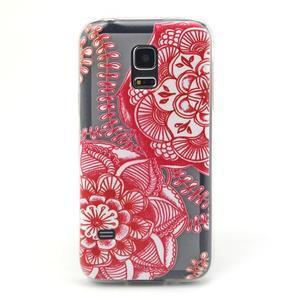Transparentný gélový obal pre mobil Samsung Galaxy S5 mini - mandala - 1