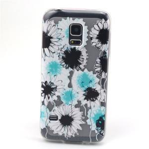 Transparentný gélový obal pre mobil Samsung Galaxy S5 mini - sedmikrásky - 1
