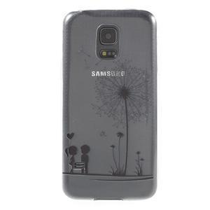 Gélový kryt pre mobil Samsung Galaxy S5 mini - láska - 1