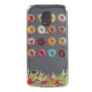 Gélový kryt pre mobil Samsung Galaxy S5 mini - donut - 1
