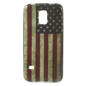 Softy gélový obal pre Samsung Galaxy S5 mini - US vlajka - 1