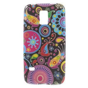 Softy gélový obal pre Samsung Galaxy S5 mini - farebné kruhy - 1
