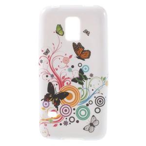 Softy gélový obal pre Samsung Galaxy S5 mini - magické motýle - 1