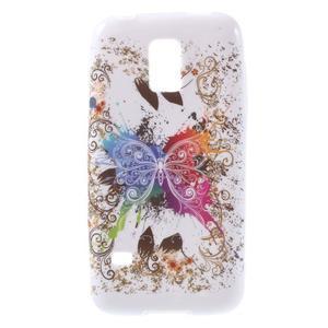 Softy gélový obal pre Samsung Galaxy S5 mini - farebný motýl - 1