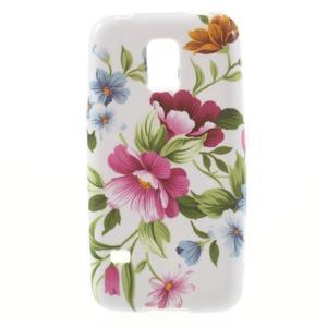 Softy gelový obal na Samsung Galaxy S5 mini - květiny - 1