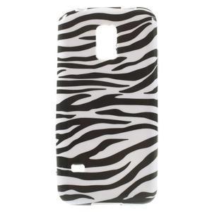 Softy gélový obal pre Samsung Galaxy S5 mini - zebra - 1