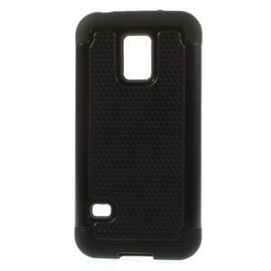 Odolný kryt 2v1 pre mobil Samsung Galaxy S5 mini - čierný - 1