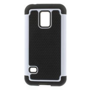 Odolný kryt 2v1 na mobil Samsung Galaxy S5 mini - bílý - 1