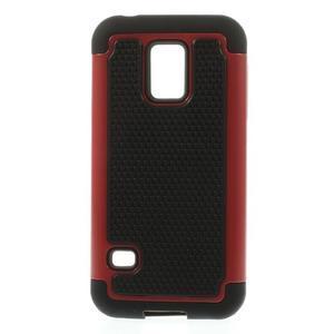 Odolný kryt 2v1 pre mobil Samsung Galaxy S5 mini - červený - 1
