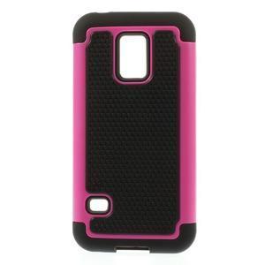 Odolný kryt 2v1 pre mobil Samsung Galaxy S5 mini - rose - 1