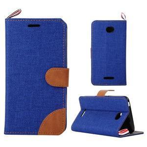 Jeans puzdro pre mobil Sony Xperia E4 - modré - 1