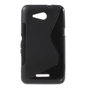 S-line gélový obal pre Sony Xperia E4g - čierny - 1