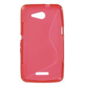 S-line gélový obal pre Sony Xperia E4g -  červený - 1