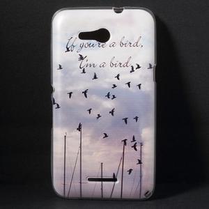 Gélový obal na Sony Xperia E4g - lietajúce vtáčiky - 1