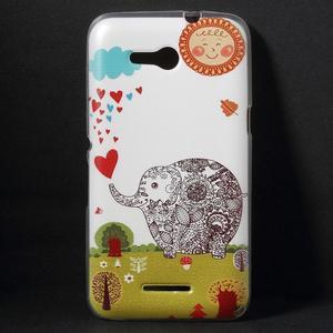Gélový obal na Sony Xperia E4g - zamilovaný slon - 1