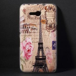Gélový obal pre Sony Xperia E4g - Eiffelova veža - 1