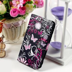 Peňaženkové puzdro pre Sony Xperia E4g - motýľikovia - 1