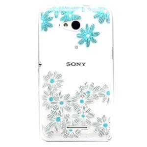 Vzorový gélový obal pre Sony Xperia E4g - kvetinky - 1