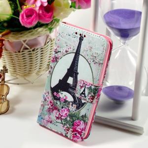 Peňaženkové puzdro pre Sony Xperia E4g - Eiffelova veža - 1