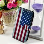 Peňaženkové puzdro na Sony Xperia E4g - USA vlajka - 1/7