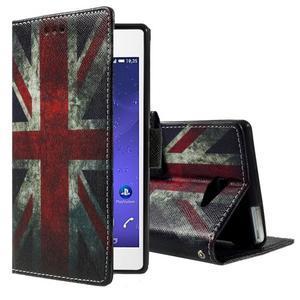 Standy Peňaženkové puzdro Sony Xperia M2 Aqua - UK vlajka - 1