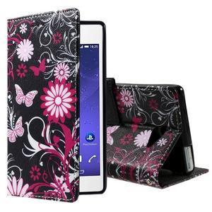 Standy peněženkové pouzdro Sony Xperia M2 Aqua - kouzelní motýlci - 1