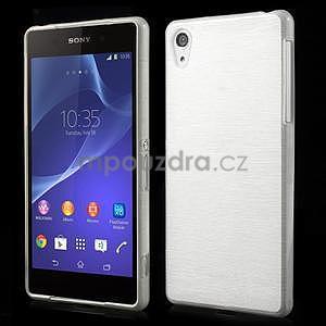 Brúsený gélový obal pre Sony Xperia Z2 - biely - 1