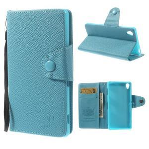 Tyrkysové Peňaženkové puzdro pre Sony Xperia Z3 - 1