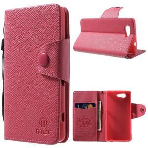 Rose peněženkové pouzdro na Sony Xperia Z3 Compact - 1