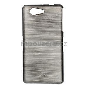 Brúsený obal pre Sony Xperia Z3 Compact D5803 - čierny - 1