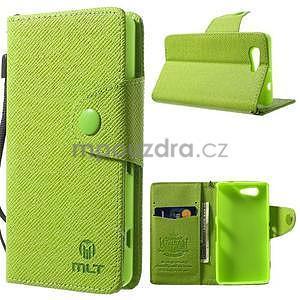 Zelené peněženkové pouzdro na Sony Xperia Z3 Compact - 1