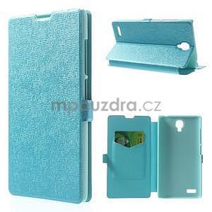 Kožené puzdro na Xiaomi Hongmi Note - světle modré - 1