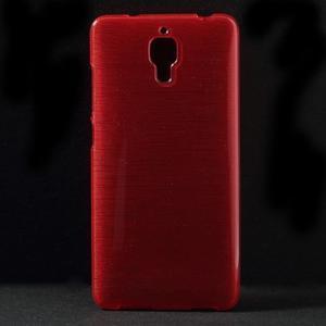 Brúsený kryt pre Xiaomi 4 MI4 - červený - 1