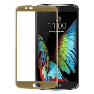 Celoplošné fixačné tvrdené sklo pre displej LG K10 - zlaté - 1