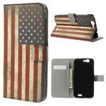 Peňaženkové puzdro Huawei Ascend G7 - vlajka USA - 1/7