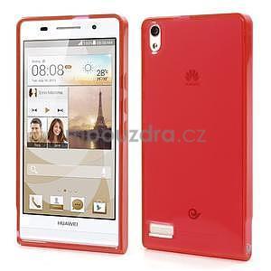 Gélové puzdro na Huawei Ascend P6 - červené - 1