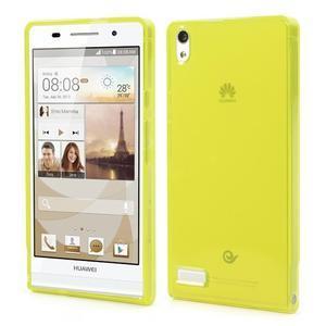 Gélové puzdro na Huawei Ascend P6 - žlté - 1
