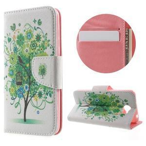 Emotive peněženkové puzdro na Huawei Y5 II - zelený strom - 1