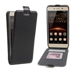 Flipové PU kožené puzdro na Huawei Y5 II - čierne - 1