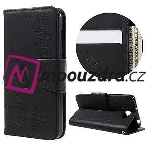 Butterfly PU kožené puzdro na mobil Huawei Y5 II - čierne - 1