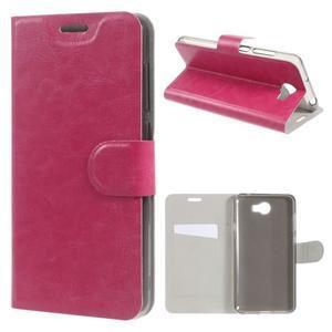 Horse PU kožené puzdro na mobil Huawei Y5 II - rose - 1