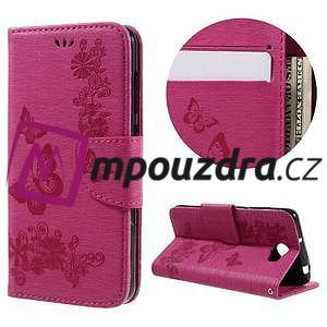 Butterfly PU kožené puzdro na mobil Huawei Y5 II - rose - 1