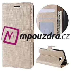 Clothy peněženkové puzdro na Huawei Y5 II - zlaté - 1