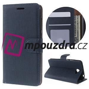 Clothy peněženkové puzdro na Huawei Y5 II - tmavěmodré - 1