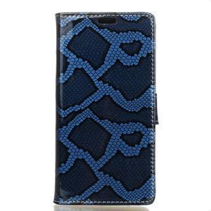Pouzdro s hadím motivem na mobil Huawei Y5 II - modré - 1